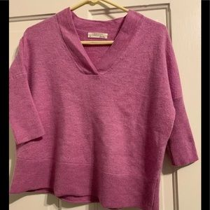 By Anthropologie Lilac V Neck Wool Sweater XS